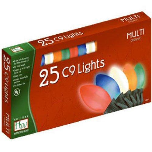 holiday wonderland 2924 88 christmas lights set multi color ceramic 25 count c9