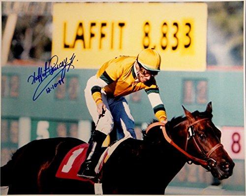 Laffit Pincay Jr Hand Signed Autograph 16x20 Photo