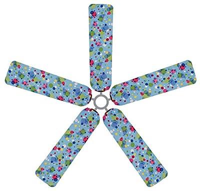 Fan Blade Designs 6538 Ceiling Fan Blade Covers, Polka Dots