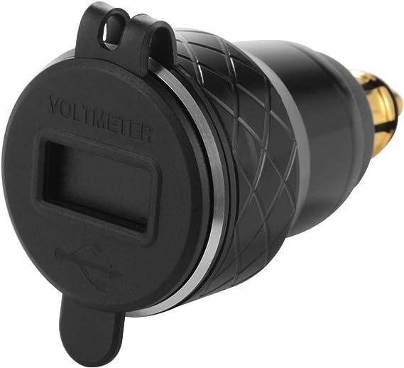 Kreema Qc 3 0 Schnellladung Dual Usb Ladegerät 4 2a Adapter Voltmeter Led Spannungsanzeige Für Motorbike Motorrad