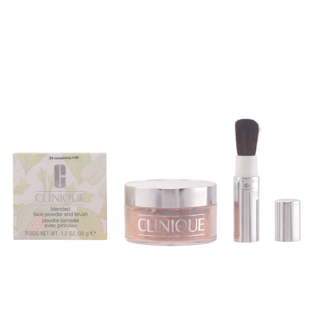 Clinique Blended Face Powder and Brush 04 Transparency 4 (M) 1.2 oz (1 Piece)