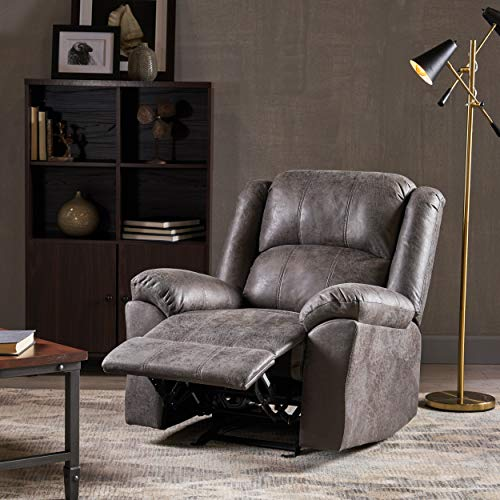Nora Glider Recliner, Pillow Top Arms, Traditional, Slate -