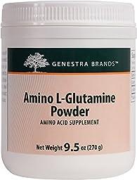 Genestra Brands - Amino L-Glutamine Powder - Amino Acid Supplement for GI and Immune Health* - 9.5 oz.