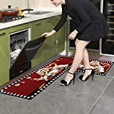 EGOBUY 2 Piece Non-Slip Kitchen Mat Rubber Backing
