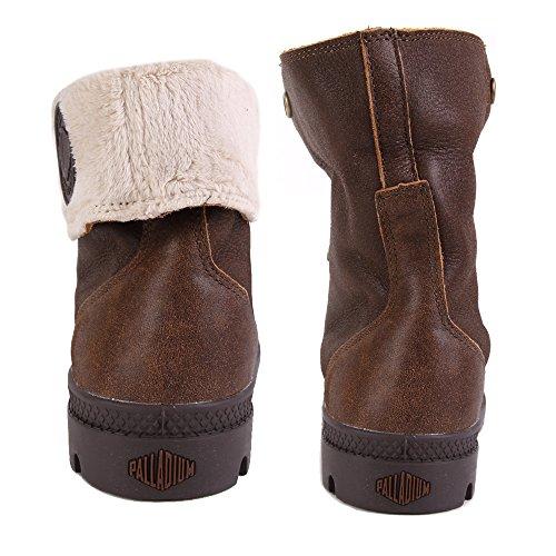 Palladium Damen Baggy Leather Fs Combat Boots Braun
