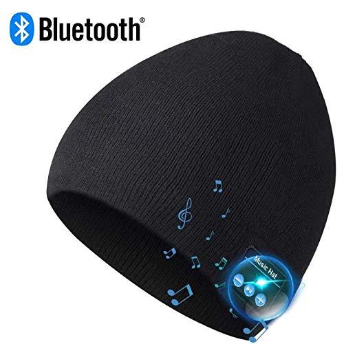ニット帽 Bluetooth 帽子 イヤホン内蔵 ワイヤレス音楽帽 USB充電 洗濯可能 マイク付き ハンズフリー通話 スポーツ、散歩用キャップ 秋冬に防寒対応 男女兼用