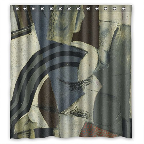 Beeyoo Abstract Art Oil Painting Bath Curtains Polyester Bes