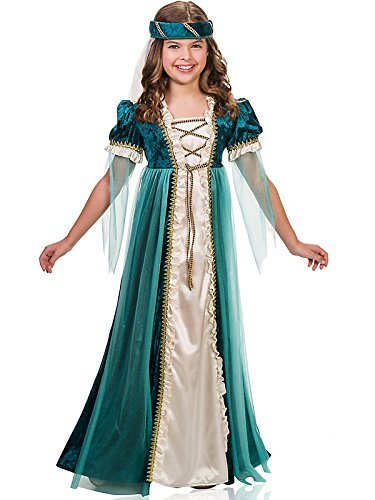 Juliet Halloween Costumes (Emerald Juliet Costume for Kids)