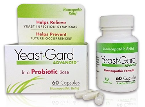 Yeastgard Advanced Homeopathic Capsules, in A Probiotic Base, 60Count