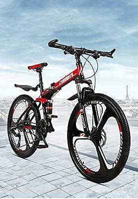 STRTG Bikes Bicicleta Plegable, Plegado Montaña Bicicleta, Marco ...