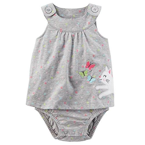 Carter's Baby Girls' Polka Dot Cat Sunsuit 24 Months