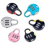 inkint 3 Digit Padlock Resettable Locker Lock Combination Lock for School Lockers Mini Coded Lock for Lockers/ Gym/ Luggage/ Suitcase (Random Color)
