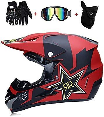 Amazon.es: D.O.T - Casco de motocross y guantes para niños ...