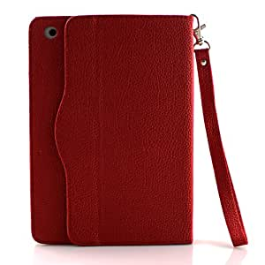 Route 66 Red Luxury Leather Business Type Stand Leather Case Cover for Apple iPad Mini