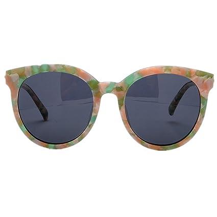 Lentes planos espejados Ojos de gato de las mujeres gafas de sol polarizadas marco de la