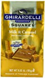 Ghirardelli Chocolate Squares, Milk Chocolate with Caramel Filling, 5.32 oz., ( Pack of 6)