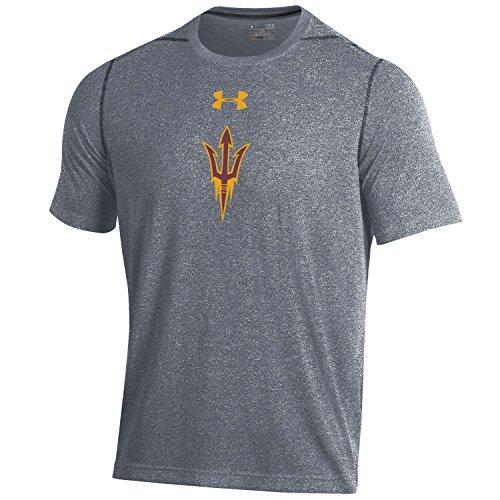 Under Armour NCAA Arizona State Sun Devils Men's Short sleeve Threadborne Tee, X-Large, Rhino Grey (Ncaa Armour Under)