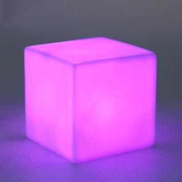 4.5V PVC LED 7 Color Changing Mood Cubes Night Glow Lamp Light Gadget Home Decor
