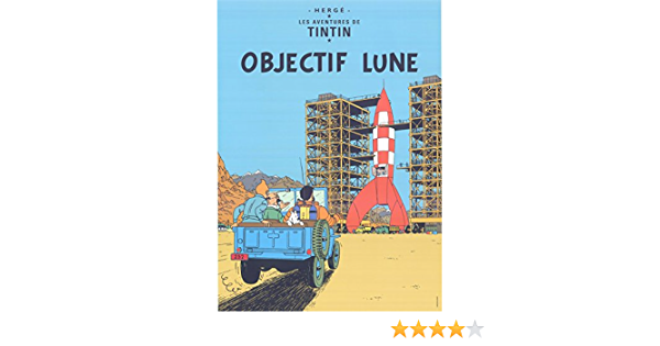 on The Away to Moon Objectif Lune 27 5//8x19 11//16in Tintin Poster Gross