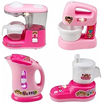 Amazon.com: Kids Kitchen Set , Home Mini Appliances, Fajiabao ...