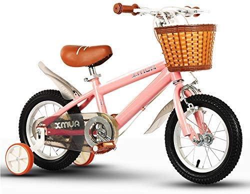YSA キッズバイク子供の自転車、男の子と女の子に適しています、12-14-16-18インチ、トレーニングホイールとブラケット付き自転車
