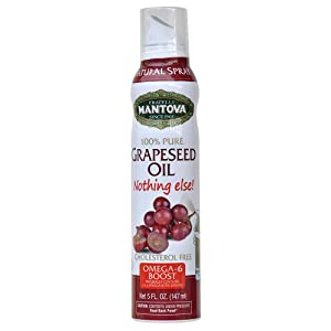Mantova Flaxseed Oil, 100% Pure Cooking Spray with Omega-3, perfect for Keto snacks, baking, or seasoning for cooking, our oil dispenser bottle lets you spray, drip, or stream with no waste, 5 oz
