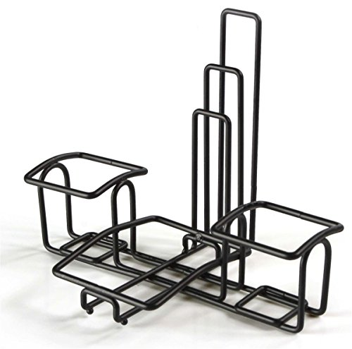 Condiment Caddy Stands with Menu Holders, Wire Organizers for Condiments, Steel (Black) - Set of 10 by Displays2go (Image #4)