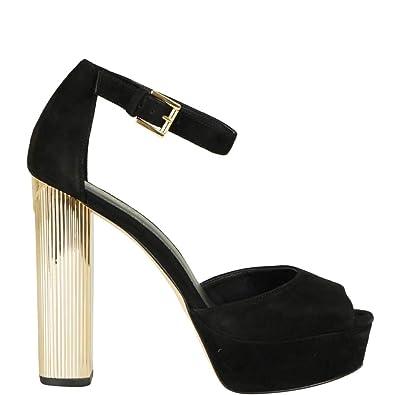 10a41cdcf11 Michael Michael Kors Paloma Metallic Block-Heel Sandals 9