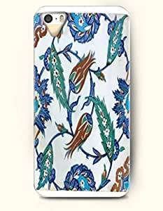 OOFIT Apple iPhone 4 4S Case Moroccan Pattern ( Turquoise Leaves and Sienna Flower Bud )