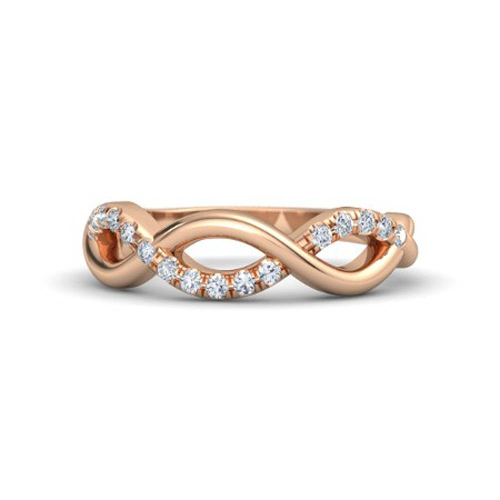 Amazon Awesome 14k Rose Gold Plated Cz Diamond Infinity Twist Band Wedding Ring3 Loops Jewelry: 3 Band Wedding Rings Awesome At Websimilar.org