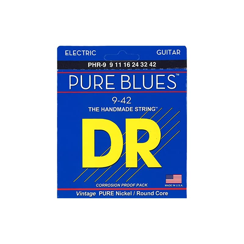 DR Strings Pure Blues Pure Nickel Wrap R