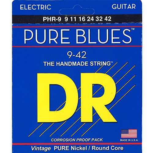 Nickel Guitar Wrap Pure Electric - DR Strings Pure Blues Pure Nickel Wrap Round Core 9-42