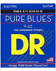 DR Strings. Pure Blues Pure Nickel Wrap Round Core 9-42
