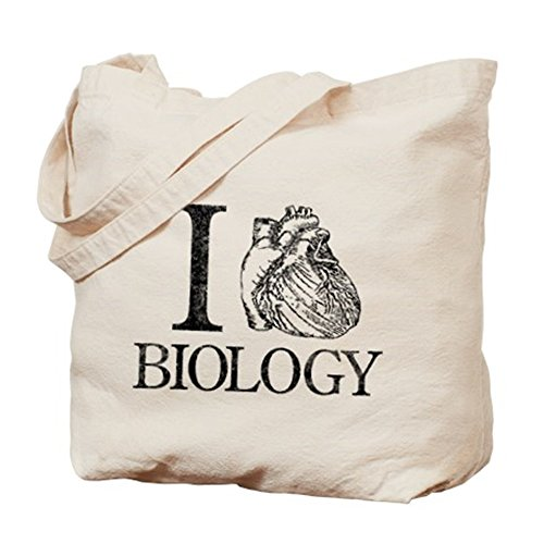 CafePress–I corazón Biología–Gamuza de bolsa de lona bolsa, bolsa de la compra