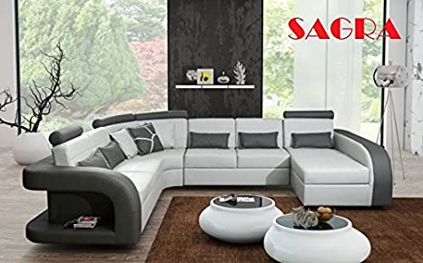 Outstanding Sagra New Large Leather Corner Sofa Bed Lille Modern Design Beatyapartments Chair Design Images Beatyapartmentscom