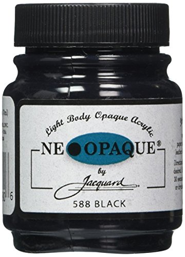1/4-Ounce Neopaque Acrylic Paint, Black (Flowable Extender)