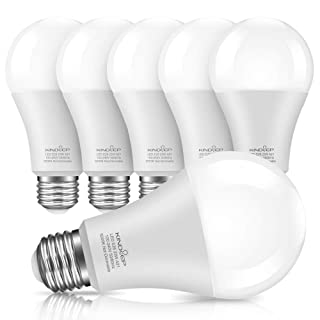 Kindeep E26 LED Bulbs, 150W-200W Incandescent Bulb Equivalent, 23W, A21 LED Light Bulbs, 2500 Lumens, Daylight White 5000K, Not-Dimmable 6-Pack