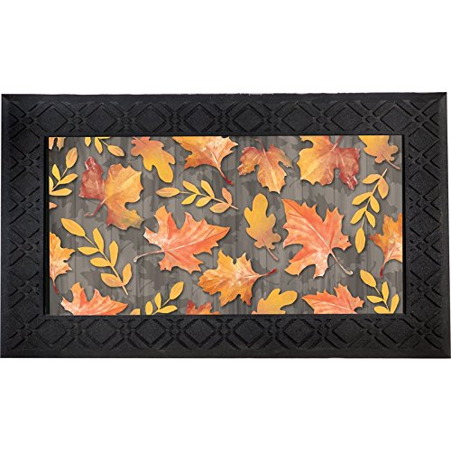 Evergreen Autumn Leaves Indoor/Outdoor Safe Entry Way LED Musical Doorway Mat, 30 x 18 inches from Evergreen Flag
