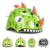 Cheap Novelty Children Safety Helmet Children Multi-Sport Animal Head Helmet for Skateboard Cycling Skate Scooter Roller (Dinosaur, M)
