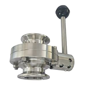 segolike 25mm Tri Clamp Sanitary Butterfly Valve for Food Brewery Dairy Brewing