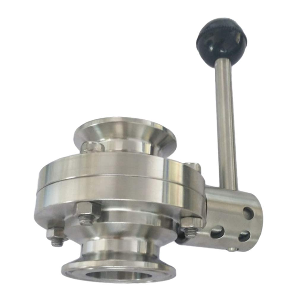 Almencla 19mm Tri Clamp Sanitary Butterfly Valve Stainless Steel for Pharmaceutical Chemical Industries