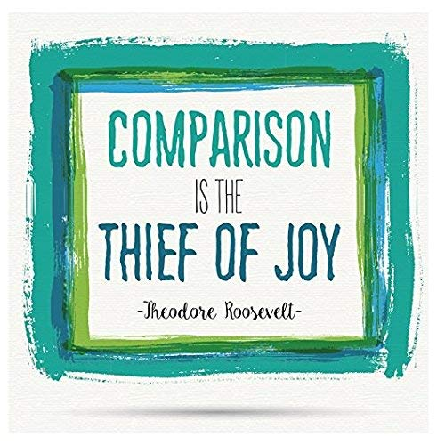 Magnet Comparison is The Thief of Joy Theodore Roosevelt Motivational Square Magnet Vinyl Magnetic Sheet for Lockers, Cars, Signs, Refrigerator 5'
