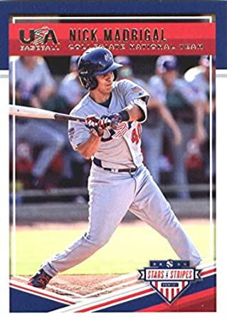 Verzamelkaarten, ruilkaarten 2018 Panini USA Baseball Stars & Stripes Longevity #15 Nick Madrigal Rookie Card