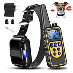 Moclever Shock Collar For Dogs Upgraded Dog Training Collar With Remote 2600ft Pet Trainer Collar Ip67 Waterproof Rechargeable Wbeep 99 Levels Vibration Shock Modes For Small Medium Large