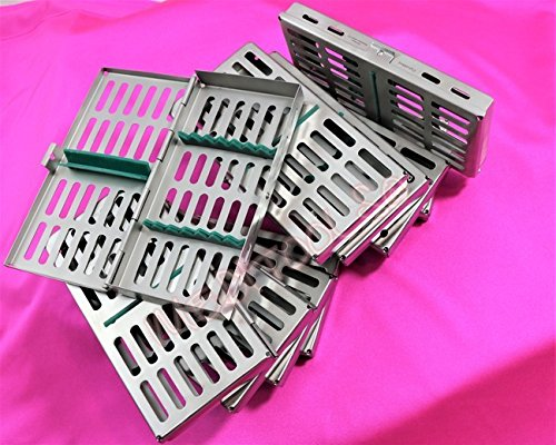 NEW SET OF 10 EA PREMIUM DENTAL SURGICAL AUTOCLAVE STERILIZATION CASSETTE FOR 7 INSTRUMENT