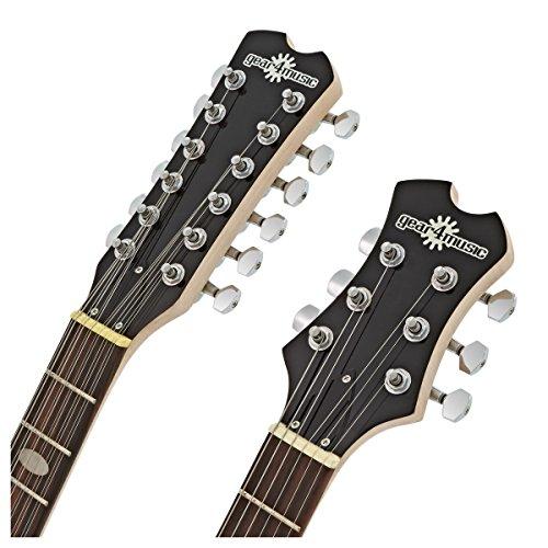 Guitare /électrique Harlem V double manche par Gear4music Black