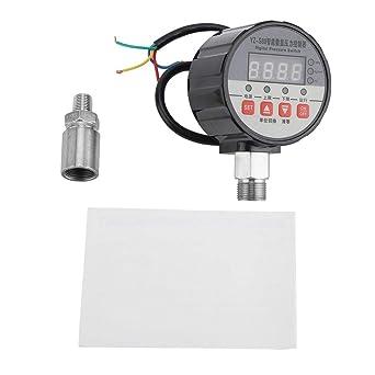 220V Regolatore di pressostato digitale 0-20Mpa 0,5/% FS Precisione per pompa dellacqua Strumento di rimozione della valvola del compressore daria Pressostato Regolatore di pressione