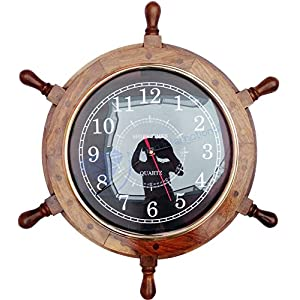 51c6MzSBsAL._SS300_ Best Ship Wheel Clocks