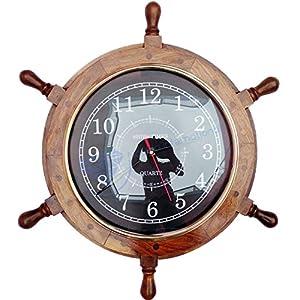 51c6MzSBsAL._SS300_ Coastal Wall Clocks & Beach Wall Clocks