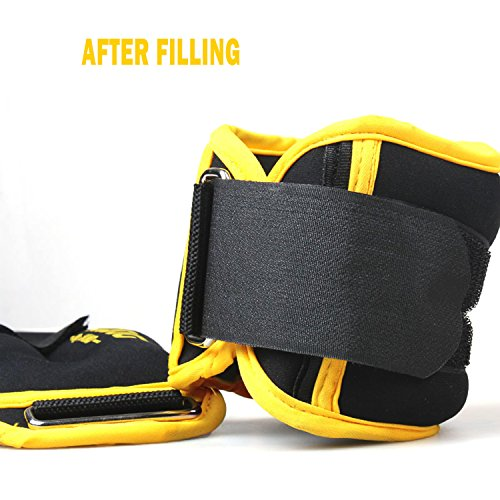 Ankle Weights with Adjustable Strap for Fitness, Exercise, Walking, Jogging, Gymnastics, Aerobics, Gym